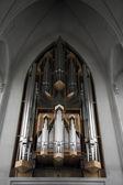 Church organ Hallgrimskirkja — Stock Photo