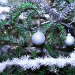 Stock Photo: Silver baubles