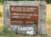 Welcome to Samburu sign — Stockfoto