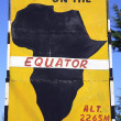 Stock Photo: Equator sign
