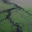 Stock Photo: River snaking across Masai Mara