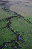 River snaking across the Masai Mara — Stock Photo