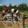 Stock Photo: Welcome to the Mara Triangle sign
