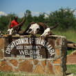 Welcome to the Mara Triangle sign — Stock Photo