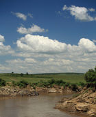 Mara River view — Stock Photo