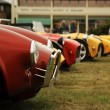 Red and yellow sports cars — Stock Photo