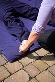 Thai foot massage — Stock Photo
