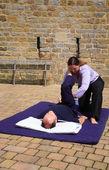 Hamstring massage — Stockfoto