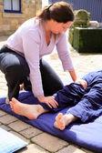 Leg massage — Stock Photo