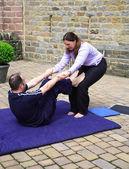 Preparación de soporte de hombro — Foto de Stock