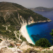 Stock Photo: Road down to Myrtos beach