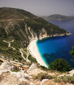 Road down to Myrtos beach — Stock Photo