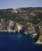 Rocky coastline of Kefalonia — Stock Photo