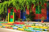 Multi coloured house — Stock Photo