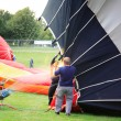 Stock Photo: Inflating a hot air balloon
