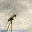 Stock Photo: Spokes of London Eye