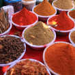 Cooking spices in Indian market — Stock Photo