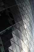 Close up of the patterend glass on the Gherkin — Stock Photo
