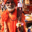 Old man traditionally dressed India — Stock Photo