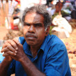 Market trader sat in shade Goa — Stock Photo #30837701
