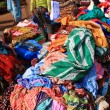 Fabric being sold in the street, India — Stock Photo