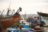 Busy boat yard — Stock Photo