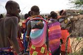 Samburu women and children — Stock Photo