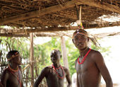 Young warriors in the Samburu Village — Stock Photo