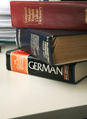 A stack of dictionaries — Stock Photo