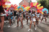 Girls dancing in the Leeds Carnival — Stock Photo