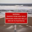 High Seas Warning Sign — Stock Photo