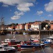 Boats in the harbour at Whitby — Stock Photo