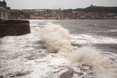 Stormy Sea at Scarborough — Stock Photo