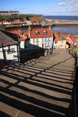 99 steps at Whitby — Stock Photo