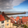 Looking down to Whitby Harbour — Stock Photo