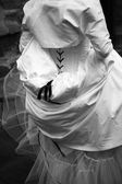 Bride on her wedding day — Stock Photo