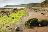 Beach at Robin Hoods Bay — Stock Photo