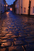 Wet cobbles of Whitby — Stock Photo