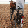 Bicycle on Brighton Beach — Stock Photo