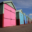 Row of beach huts Brighton — Stock Photo