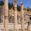 3 ancient columns Ephesus — Stock Photo