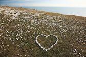 小石から作られた愛心 — ストック写真