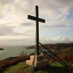 Morar cross on the hill — Stock Photo