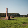 Chimneys at Auschwitz concentration camp — Stock Photo