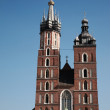Mariacki church in Krakow — Stock Photo