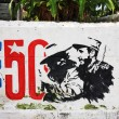 Stock Photo: Graffiti marking 50 years of revolution in Cuba