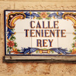 Stock Photo: Sign for CallTeniente Rey Cuba