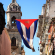 Cuban flag in Havana — Stock Photo