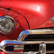 Close up of a red Chevrolet — Stock Photo