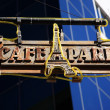 Stock Photo: Old sign for Cafe Paris Cuba